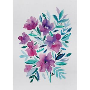 Ilustrare Loose pink floral watercolour, Laura Irwin