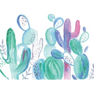 Ilustrare Loose abstract cacti, Laura Irwin