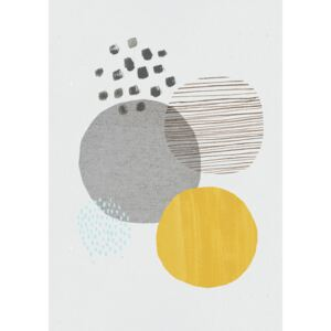 Ilustrare Abstract mustard and grey, Laura Irwin