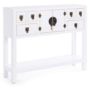 Consola alba 6 sertare Pechino White Console 2Do6Dr