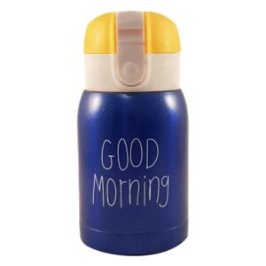 Mini Termos Good Morning, Albastru, 180 ml