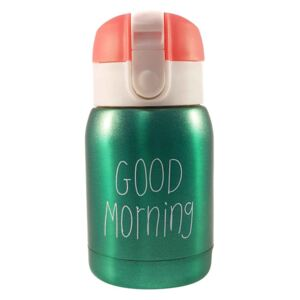 Mini Termos Good Morning, Verde, 180 ml