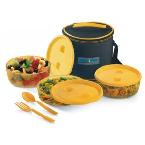Set Lunch Box PRIDE Thermo, 6 piese, Galben