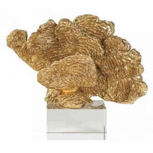 Decoratiune aurie din rasina si sticla 20 cm Coral Aryan Gold Richmond Interiors