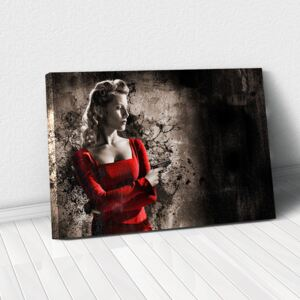 Tablou Canvas - Woman in Red