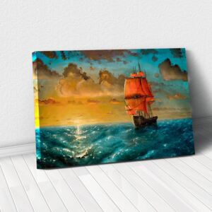 Tablou Canvas - Sailing on sunset