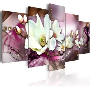 Tablou Bimago - Magnetic Abstraction With An Orchid 100x50 cm