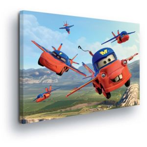 GLIX Tablou - Disney Cars Flying in the Clouds 100x75 cm