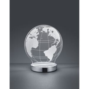 Trio GLOBE R52481106 Lămpi decorative crom transparent incl. 1 x SMD, 7W, 3000+4000+6500K, 400Lm H:20cm