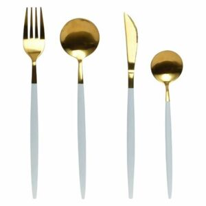 Cutty Set 16 tacamuri, Inox, Alb