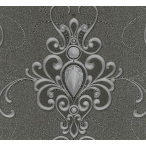 Tapet vlies 58560 Glööckler Imperial model ornamental gri inchis 10,05x0,70 m
