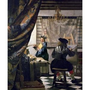The Art of Painting, 1666-73 Reproducere, Johannes Vermeer, (50 x 70 cm)