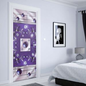 GLIX Tapet netesute pe usă - Abstract Modern Design Purple