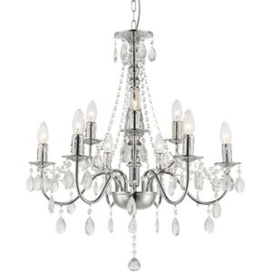 Candelabru 9xE14 crom cristal William Globo Lighting 63129-9