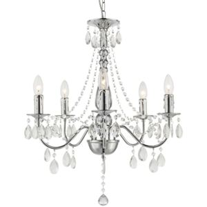 Candelabru 5xE14 crom cristal William Globo Lighting 63129-5