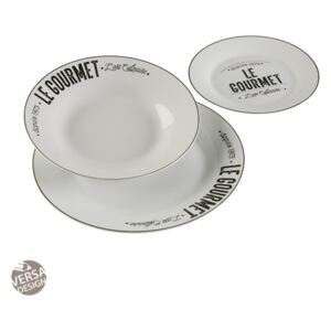 Set de masa 18 piese din portelan Gourmet Dishes Versa Home