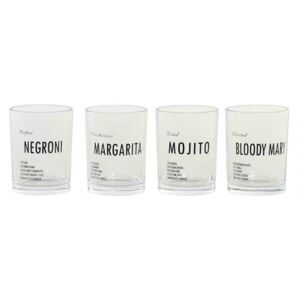Alco Set 4 pahare, Sticla, Transparent