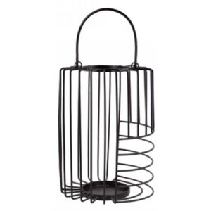 Felinar negru din metal 31 cm Dale Black Small LifeStyle Home Collection