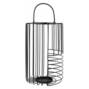Felinar negru din metal 41 cm Dale Black Large LifeStyle Home Collection