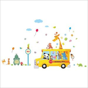 Autocolant de perete Ambiance Animals in bus