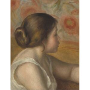 Head of a Young Girl, c.1890 Reproducere, Pierre Auguste Renoir