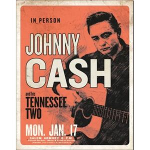Johnny Cash & His Tennessee Two Placă metalică, (32 x 41 cm)