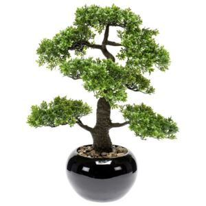 Emerald Ficus artificial mini bonsai, verde, 47 cm 420006 420006