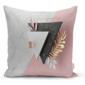 Față de pernă Minimalist Cushion Covers BW Marble Triangles, 45 x 45 cm