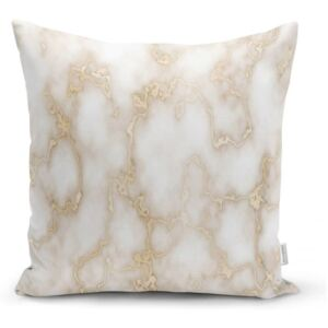 Față de pernă Minimalist Cushion Covers Golden Lines Marble, 45 x 45 cm