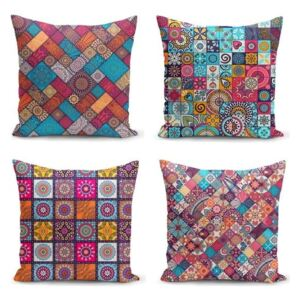 Set 4 fețe de pernă Minimalist Cushion Covers Fearie, 45 x 45 cm
