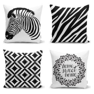 Set 4 fețe de pernă Minimalist Cushion Covers Careto, 45 x 45 cm