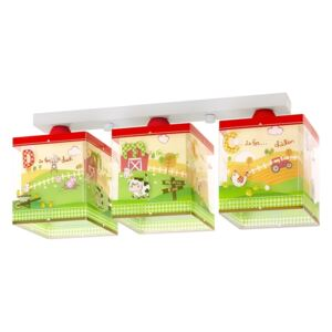 Dalber 64403 - Plafoniera copii MY LITTLE FARM 3xE27/60W/230V