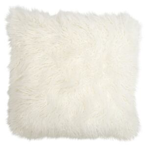 Perna decorativa patrata alba din fibre acrilice si poliester 50x50 cm Sheep Fur LifeStyle Home Collection