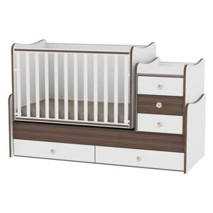 Lorelli Maxi Plus Patut Combi - White/Walnut