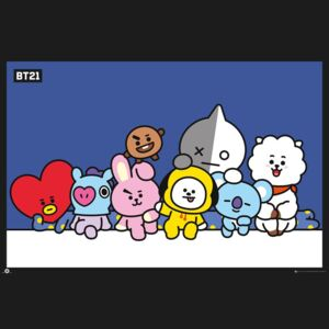 BT21 - Group Poster, (91,5 x 61 cm)