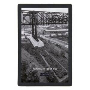 Rama foto neagra din metal si sticla 10x15 cm Nora LifeStyle Home Collection