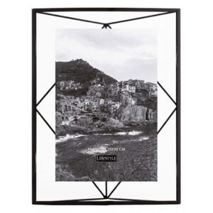 Rama foto neagra din metal si sticla 25x35 cm Nuri Black LifeStyle Home Collection