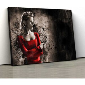 Tablou Canvas - Lady In Red 2 - 40x65 cm(120,00 Lei)