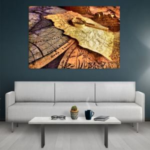 Tablou canvas Old maps