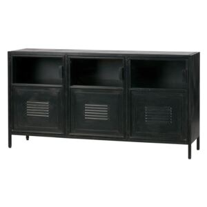 Comoda din metal in stil industrial Ronja Sideboard Black | WOOOD