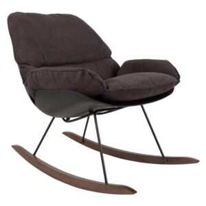 Fotoliu balansoar gri inchis Lounge Chair Rocky Dark | WHITE LABEL LIVING