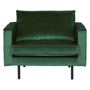 Fotoliu din catifea Rodeo Velvet Green Forest | BE PURE HOME