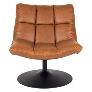 Fotoliu din piele ecologica Lounge Chair Bar Vintage Brown | DUTCHBONE