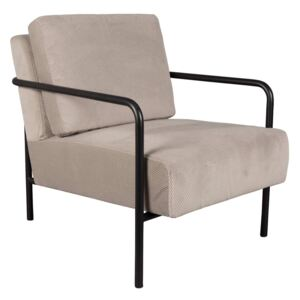 Fotoliu gri deschis Lounge Chair X-Bang Black/Light Grey | ZUIVER