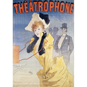 Poster Advertising the 'Theatrophone' Reproducere, Jules Cheret