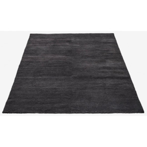Covor gri inchis din lana 300x200 cm Velluto Charcoal Grey Bolia