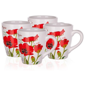 Set căni 500 ml Banquet Red Poppy, 4 buc