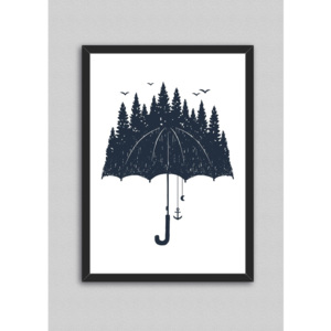 Tablou North Carolina Scandinavian Home Decors Rain, 33 x 43 cm