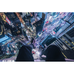 On The Edge Of Times Square Poster, (91,5 x 61 cm)