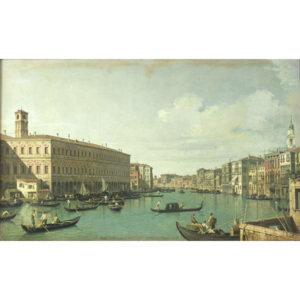The Grand Canal from the Rialto Bridge Reproducere, (1697-1768) Canaletto